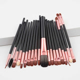 20 PCS Makeup Brushes Eyeshadow Rouge Lipstick Liquid Foundation Mascara Brushes Cosmetic Beauty Tools Maquiagem Brush Kits