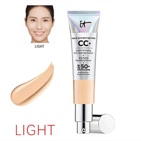 Face Concealer it cosmetics CC+ Cream SPF 50 Full Cover Medium or Light Hide Blemish Corrector Makeup Whitening Cosmetics
