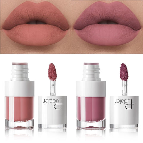 Pudaier Liquid Matte Lipstick Waterproof Lip Makeup Tattoo Long Lasting Lip Tint Matte Plumper Lip Gloss Moisturizer Lipgloss