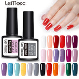 LEMOOC 8ml  Color Nail Gel Polish 50 Colors Soak Off LED UV Gel Pumpkin Color Nail Varnish Long Lasting Nail Art Lacquer