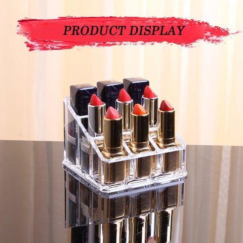 Acrylic Makeup Organizers Makeup Brush Eyeliner Eyebrow Pencil Holder Cosmetic Storage Case Nail Polish Lipstick Frame Lippie