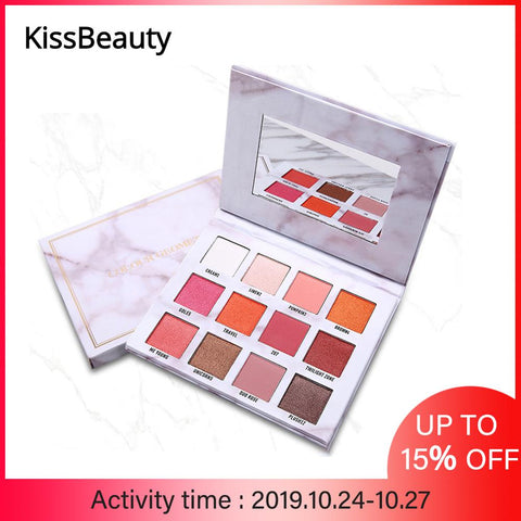 The New Nude Eyeshadow Palette Marble eyeshadow palette 12-color matte pearls popular for influencers from Ins,Tick-tok