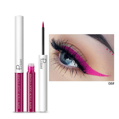 15 Color Long Lasting Liquid Eyeliner Makeup Waterproof  Fast Dry Liquid Eyeliner Matte Multicolor Eye Liner TSLM1