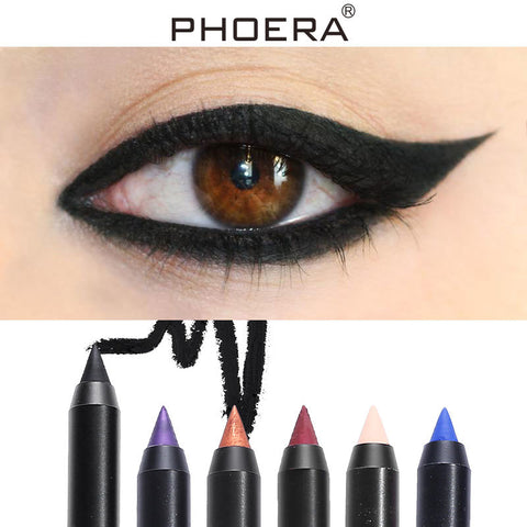 12 Colors Eye Liner Fashion Matte Eyeliner Pen Long Lasting Waterproof Natural Eyeliner White Eyeliner TSLM1