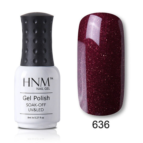 HNM 8ML 28 Rough Color Nail Polish Hybrid Varnish Lucky Lacquer GelLak Gelpolish Semi Permanent Stamping Primer Enamel Soak Off