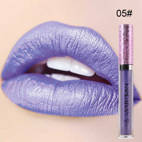2018 Wholesale Makeup Liquid Shimmer Lipstick Lip Gloss Waterproof Long Lasting Lipgloss Tint Glitter Baton Mate Lips Make Up