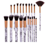 10pcsPromotions marbling texture brushes face foundation powder eyeshadow kabuki eye blending cosmetic marble makeup brush tool