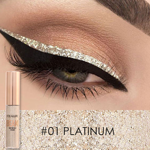 Focallure  Liquid Glitter Eyeliner Pencils White Gold Color Shining Shimmer Eye Liner Makeup Pen