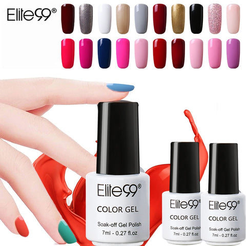 Elite99 7ML Nail Art Gel  Black White UV LED Gel Nail Polish Long-lasting Soak Off Varnish Gel Lacquer Gel Varnish Nail Polish