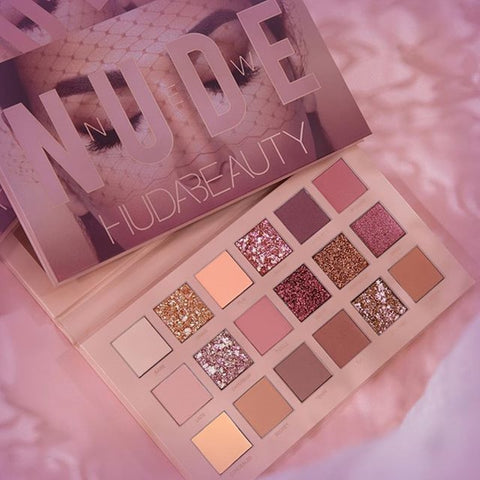 NEW HUDAS  beauty THE NEW NUDE PALETTE matte eyeshadow palette Shimmer Palette same color with Hudas Matte Smokey Contour makeup