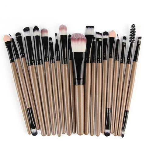 MAANGE 20Pcs/Set Makeup Brushes Set Beauty Tools For Eyeshadow Foundation Powder Eyeliner Eyelash Lip Cosmetic Brush Kit