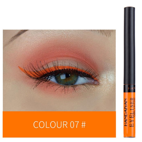 HANDAIYAN Colorful Matte Eyeliner Liquid Waterproof White Blue Black Tint Eyes Makeup Long Lasting Liquid Eye Liner Cosmetics