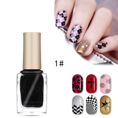 12 Color Optional Stamping Nail Lacquer Spray Varnish Stamp Polish Nail Polish & Stamp Polish Nail Art TSLM1