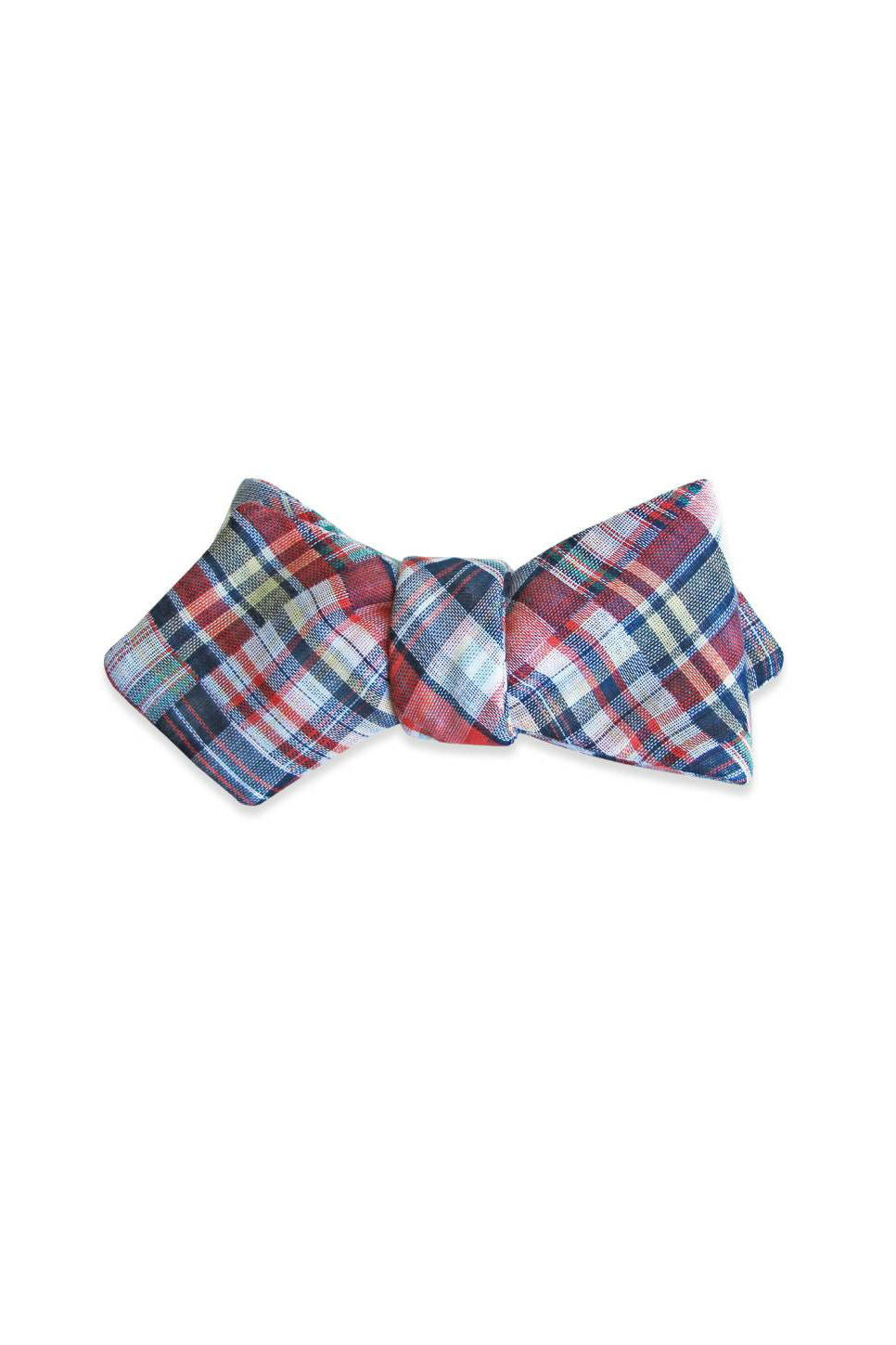 THE MADRAS BOW TIE Blue/Red