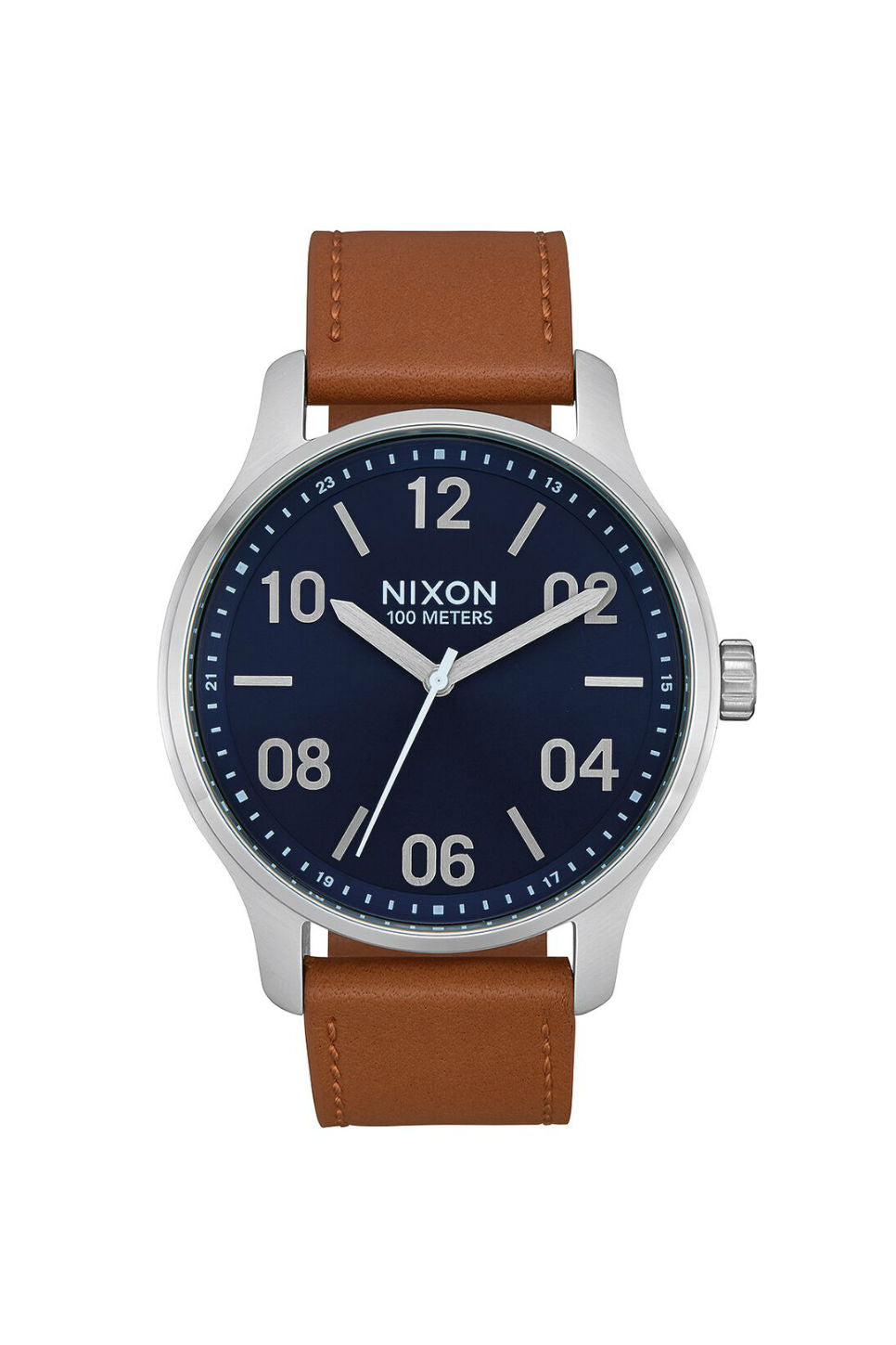 Nixon - Patrol Leather Watch - Navy/Saddle - Front