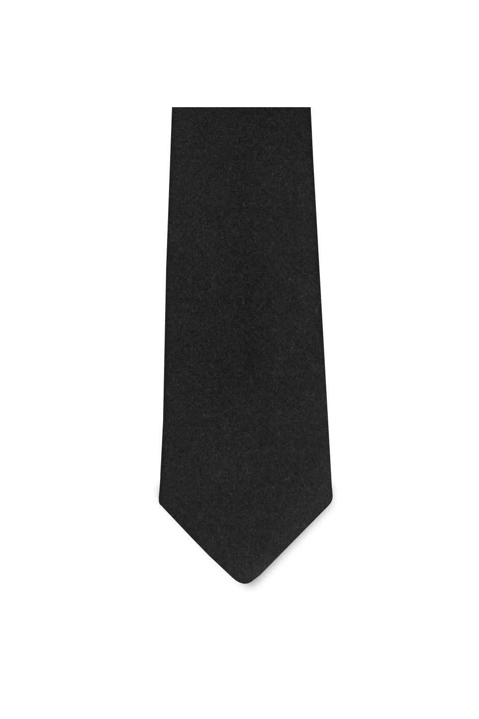 Pocket Square Clothing - Diplomat Tie - Black