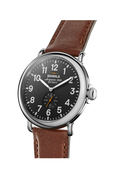 Shinola - Runwell 47mm - Cool Grey/Cognac - Profile