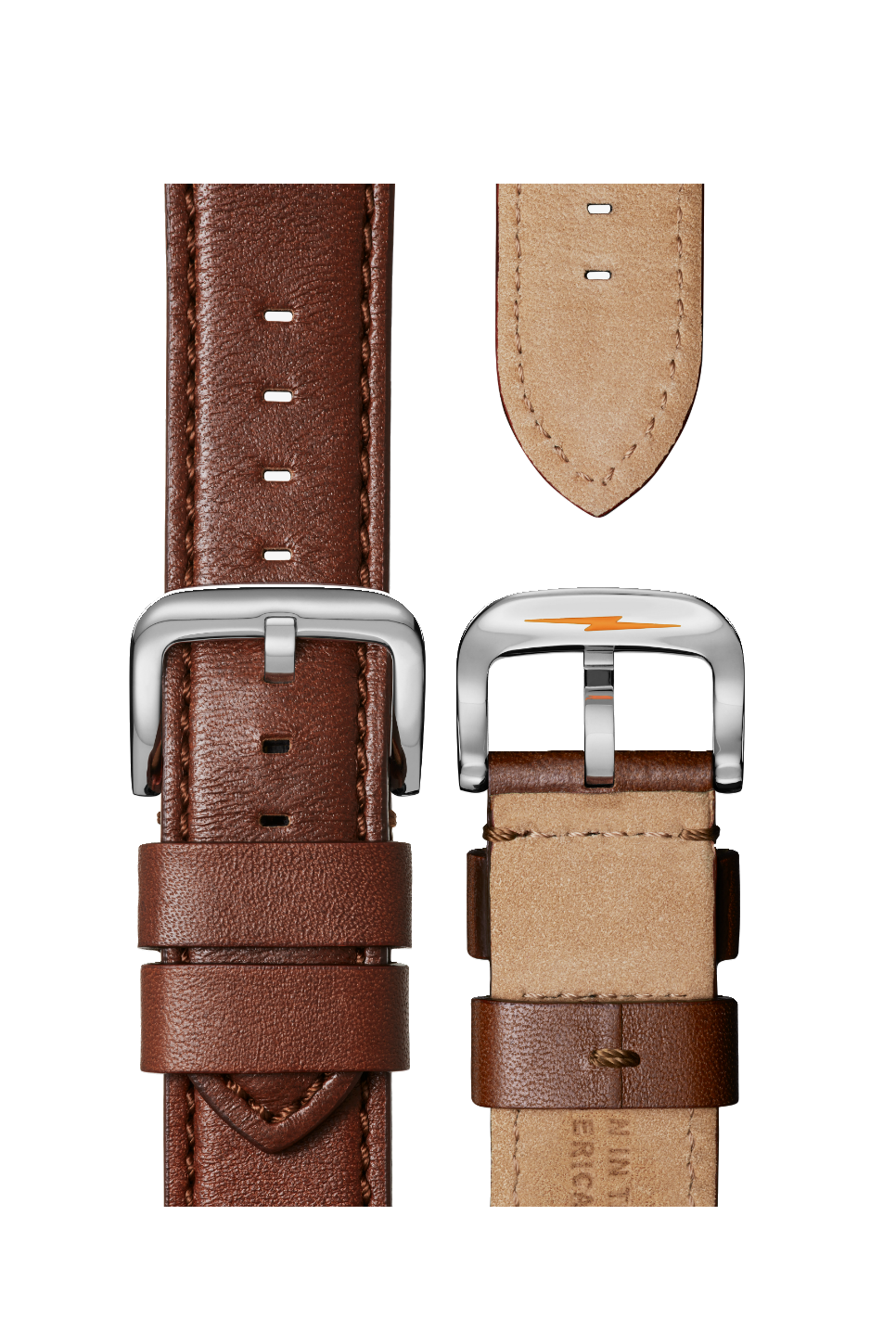 Shinola - Runwell 47mm - Cool Grey/Cognac - Straps