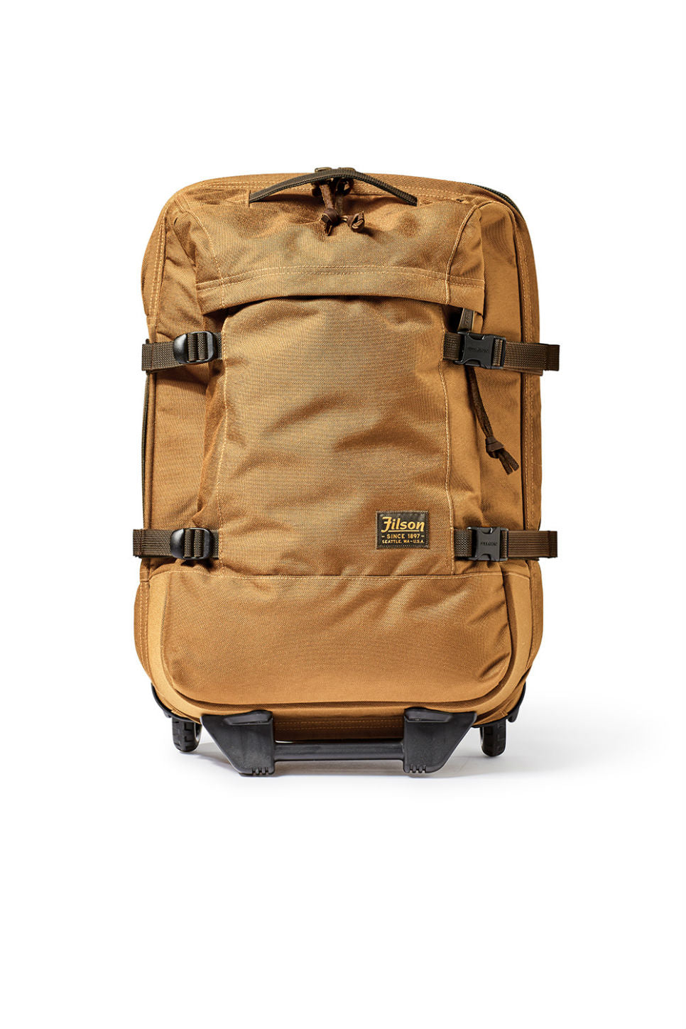 Filson - Dryden 2 Wheel Carry On - Whiskey - Front