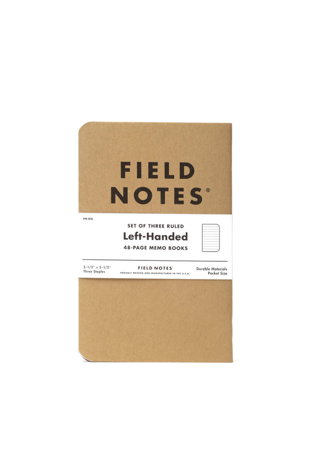 Field Notes - Left-Handed 3 Pack - Ruled