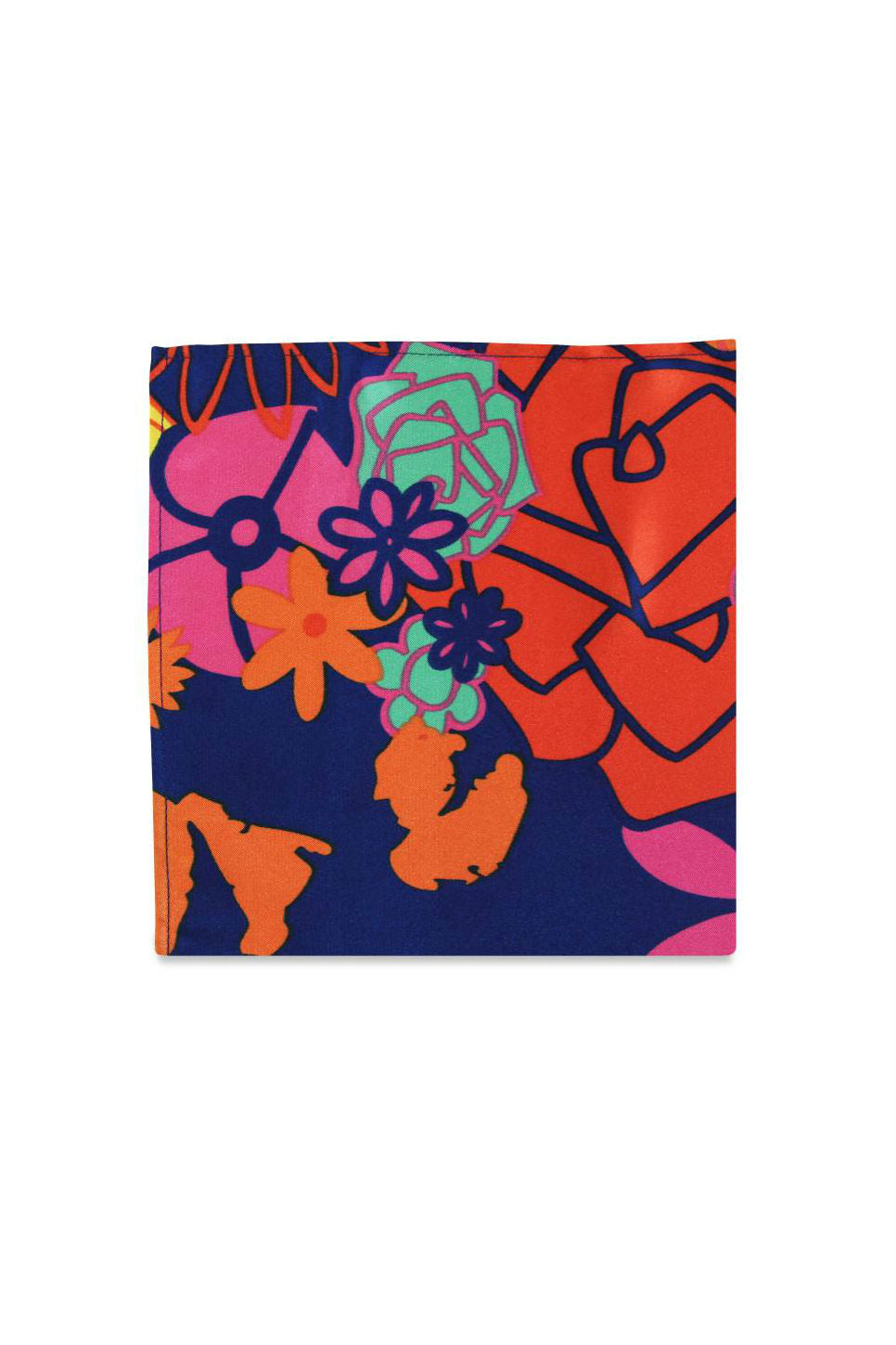 THE ROMIE ARTULETTA POCKET SQUARE Tropical Floral