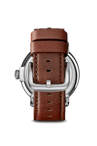 Shinola - Runwell 47mm - Cool Grey/Cognac - Back