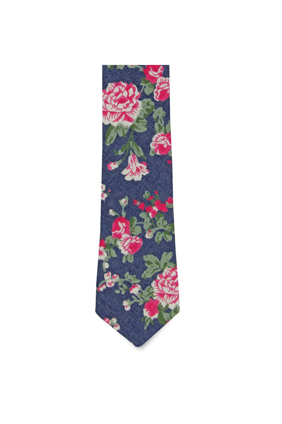 THE CLARA TIE Blue Floral