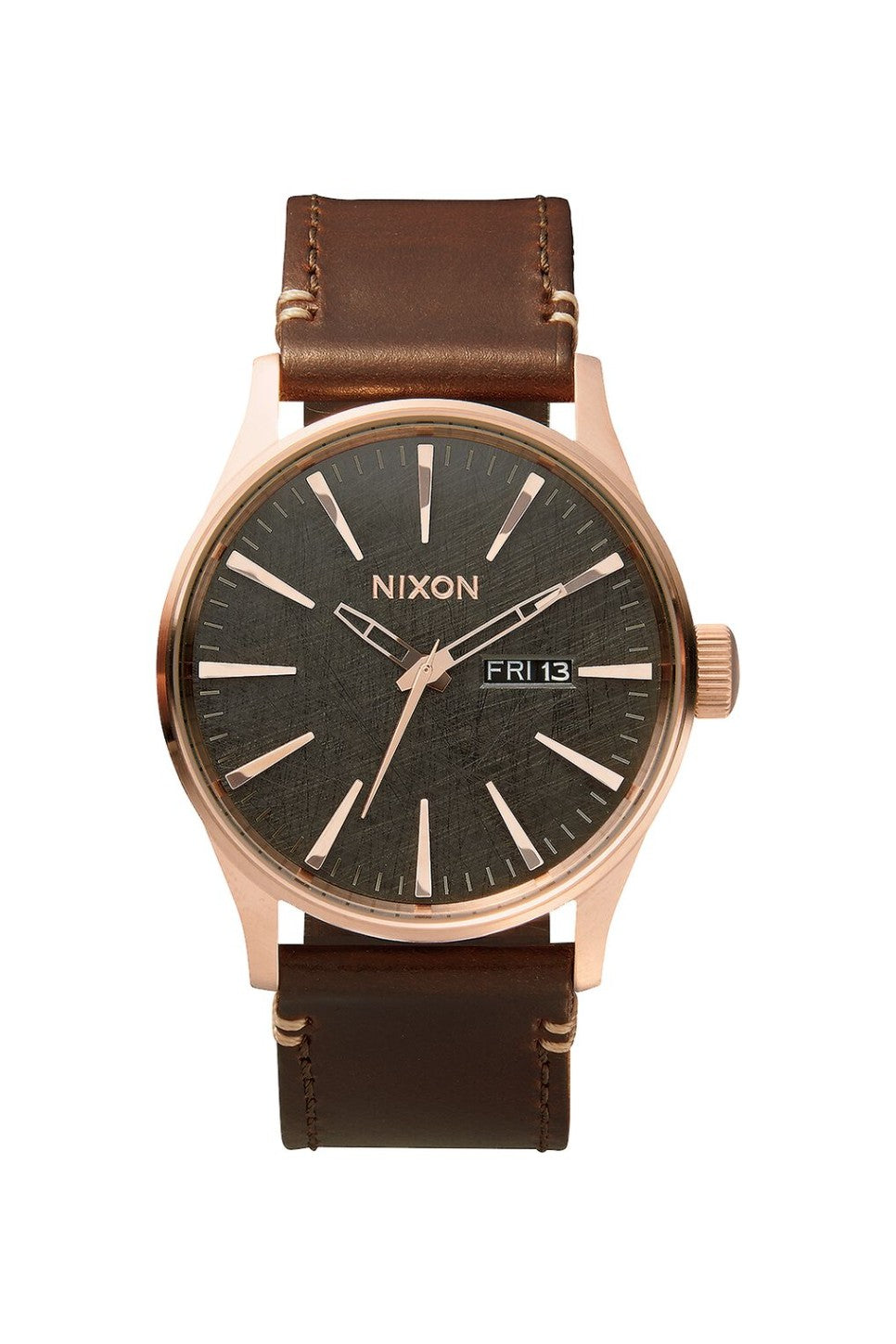 Nixon - Sentry Leather - Rose Gold/Gunmetal - Front