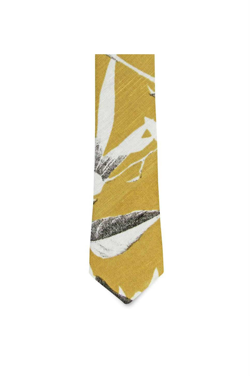 ODESSA FLORAL TIE Yellow