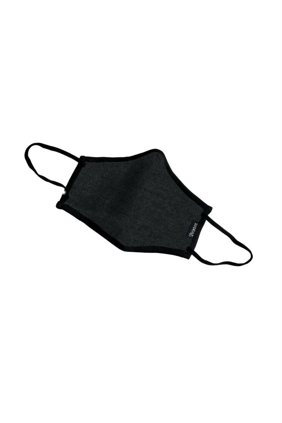 YOUTH FACE MASK Black Herringbone