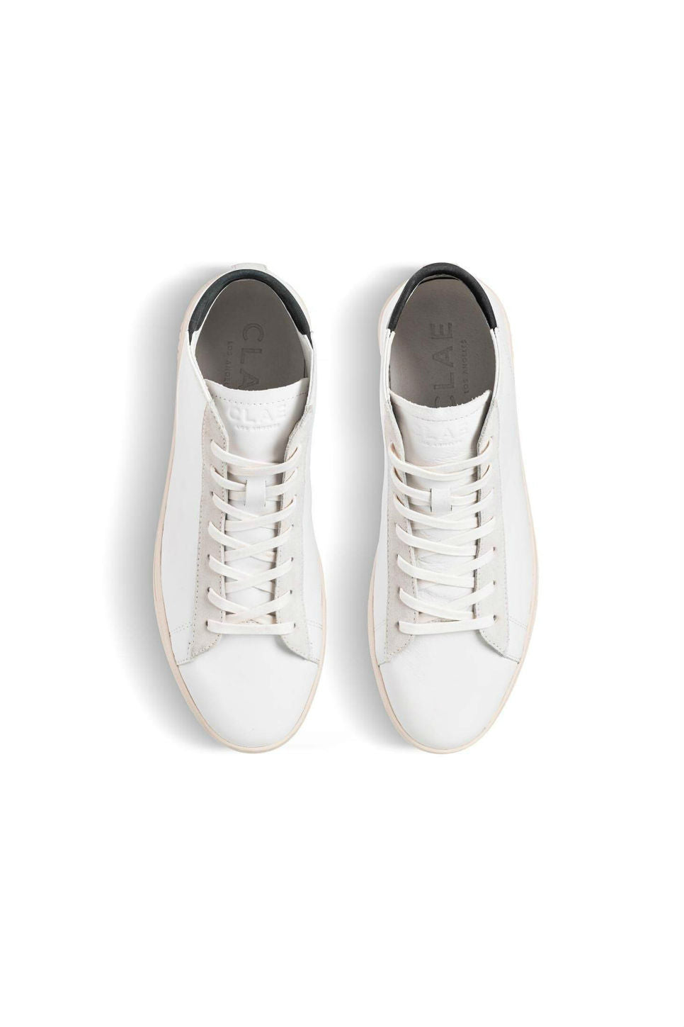 CLAE - Bradley Mid - White Leather/Black - Top