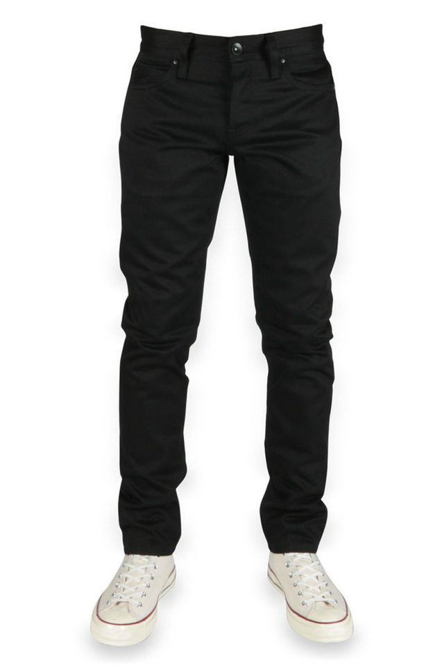 Unbranded - UB455 Tight Black Chino - Front