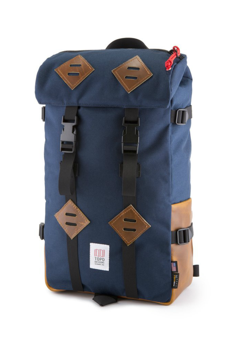 Topo Designs - Klettersack - Navy/Leather