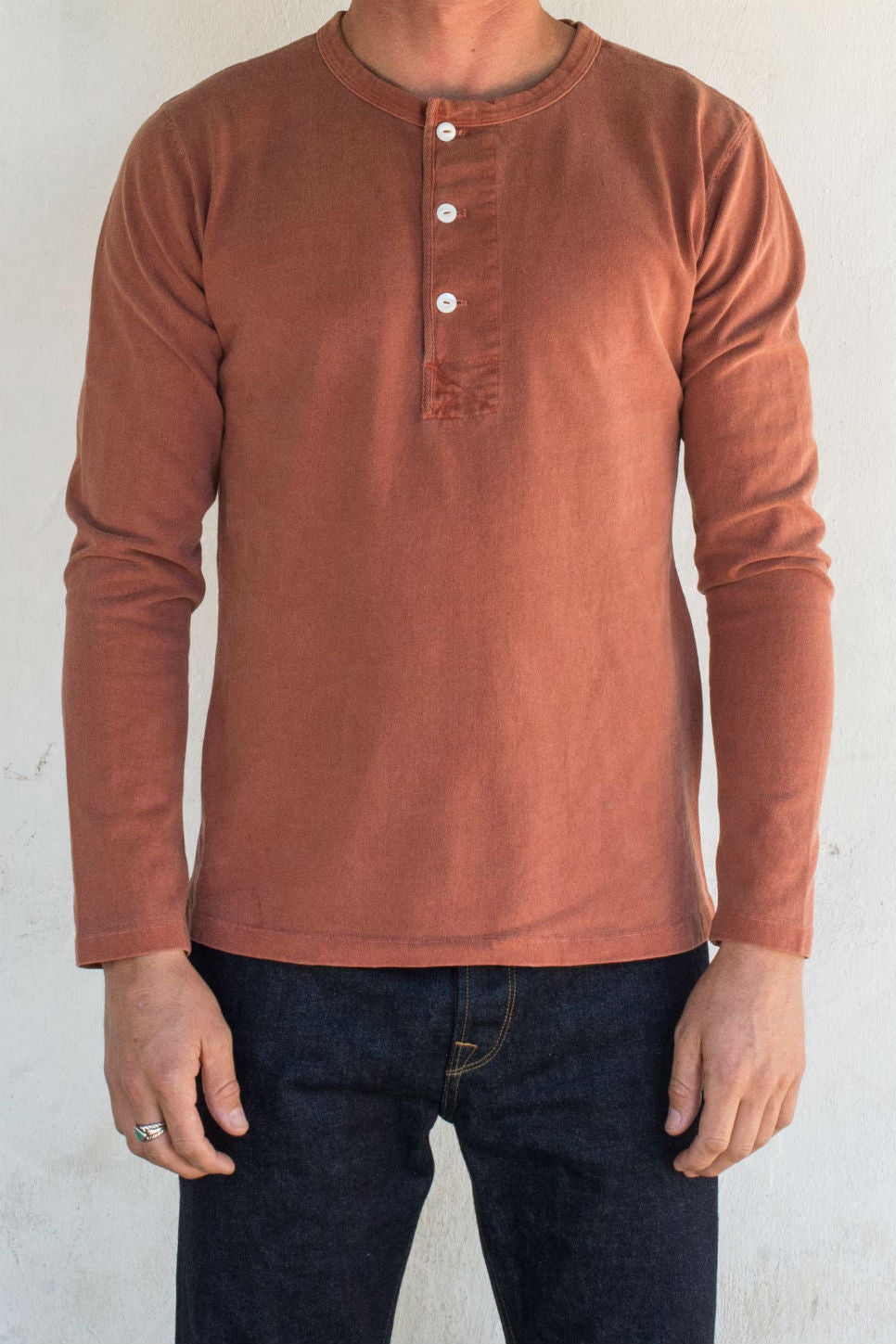 Freenote - 13oz Henley - Rust - Model