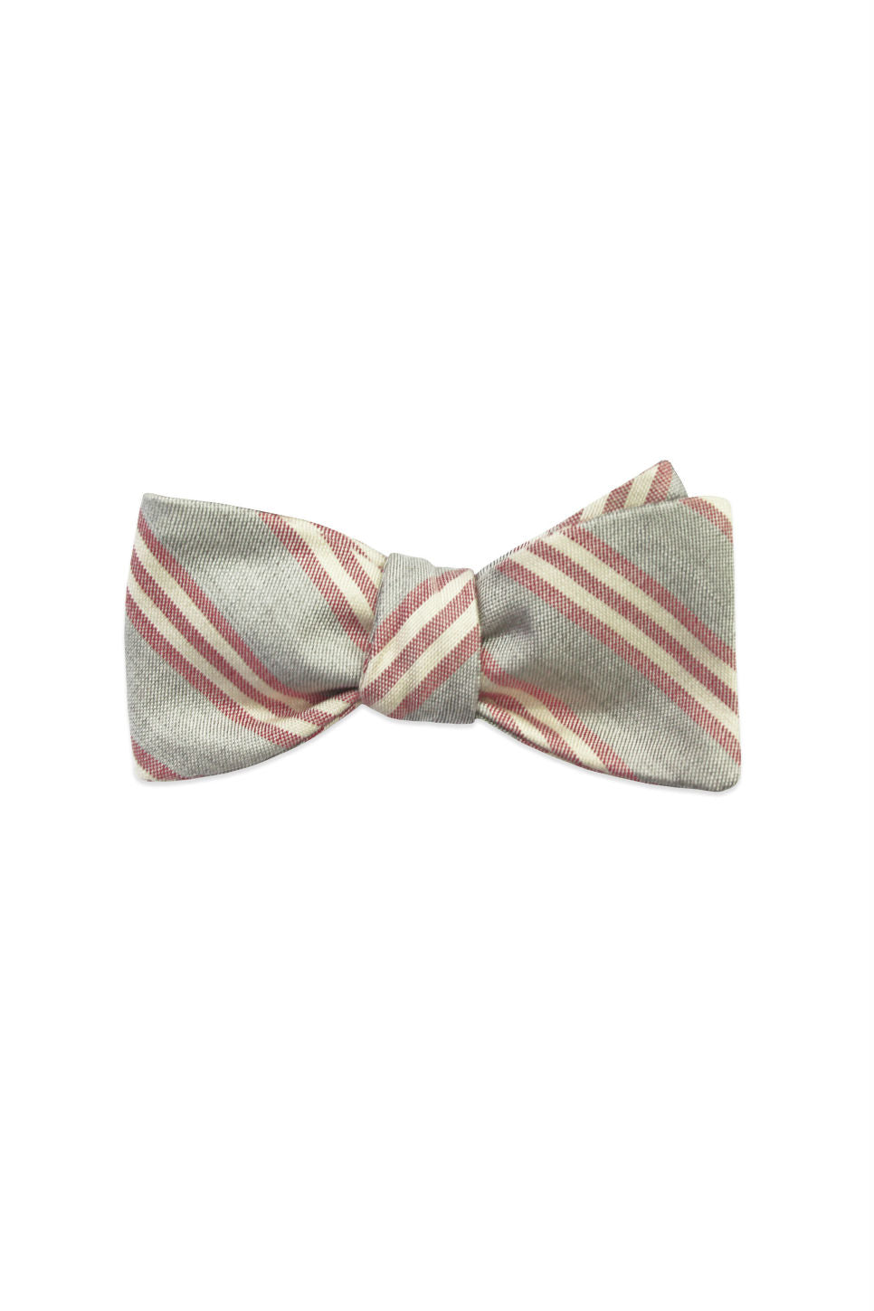 THE CYRUS BOW TIE Red and Gray