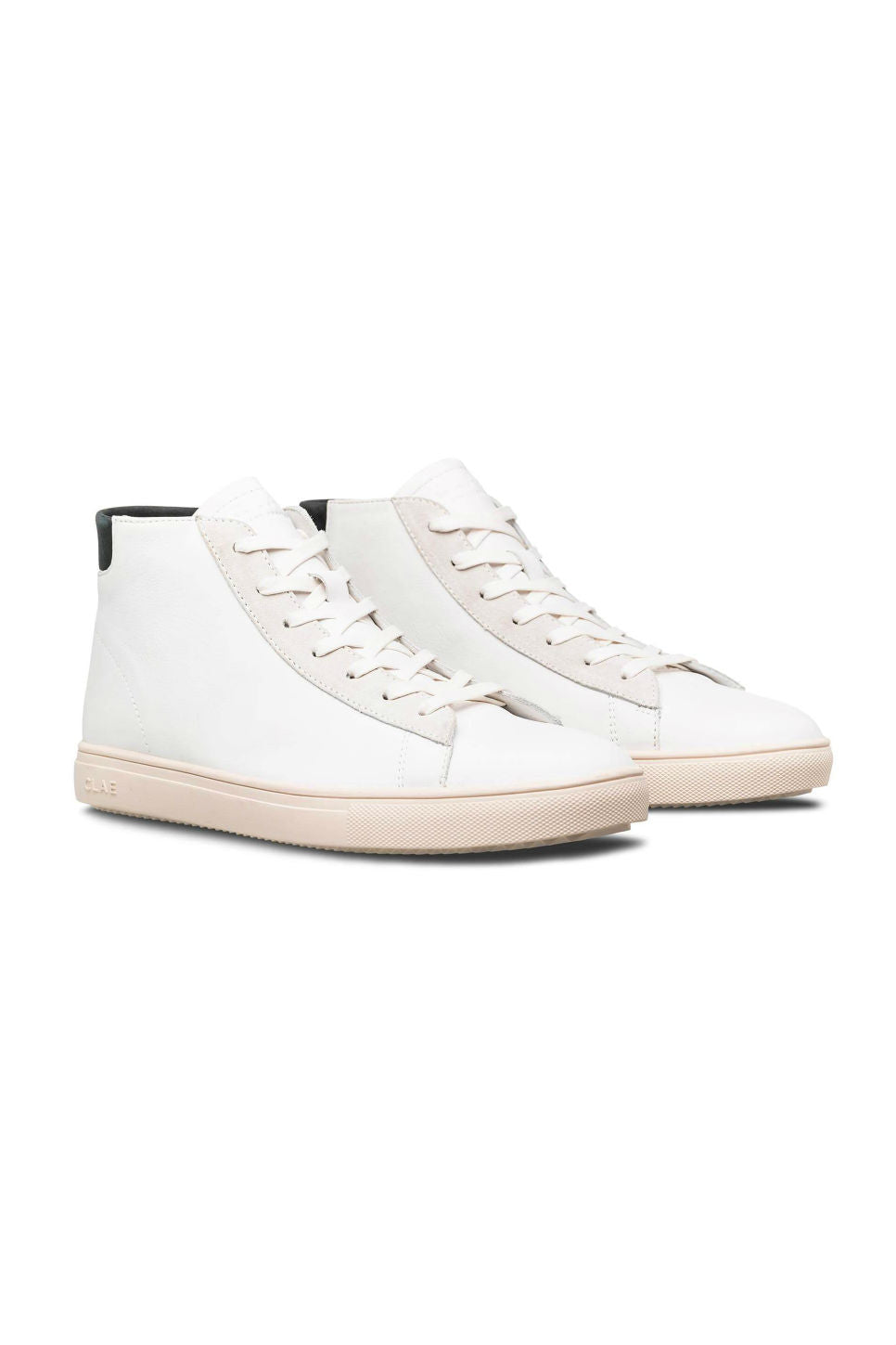 CLAE - Bradley Mid - White Leather/Black - Profile