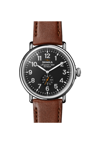 Shinola - Runwell 47mm - Cool Grey/Cognac - Front