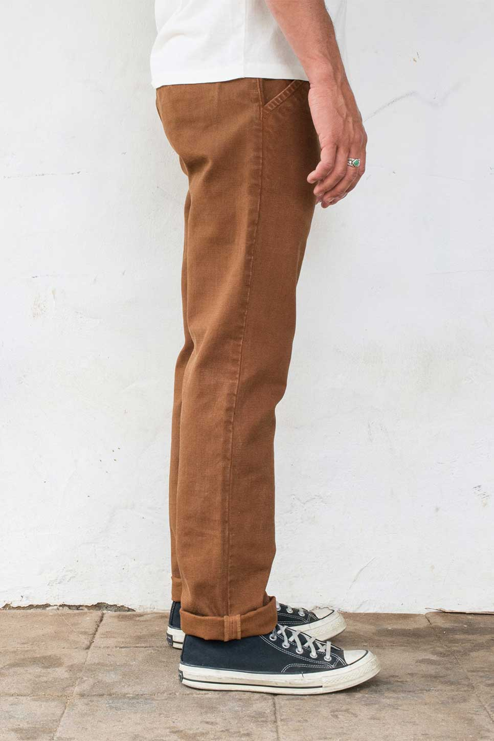 Freenote - Workers Chino 14oz - Rust - Side