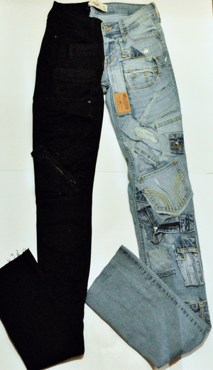 The Stacked Half&Half Jeans