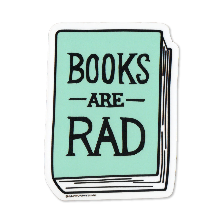 Books Are Rad Sticker