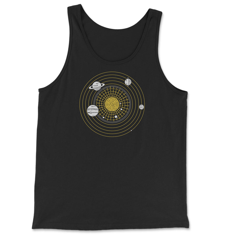 Solar System Diagram - Unisex Tank Top