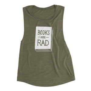 Books Are Rad - Women's Flowy Muscle Tank