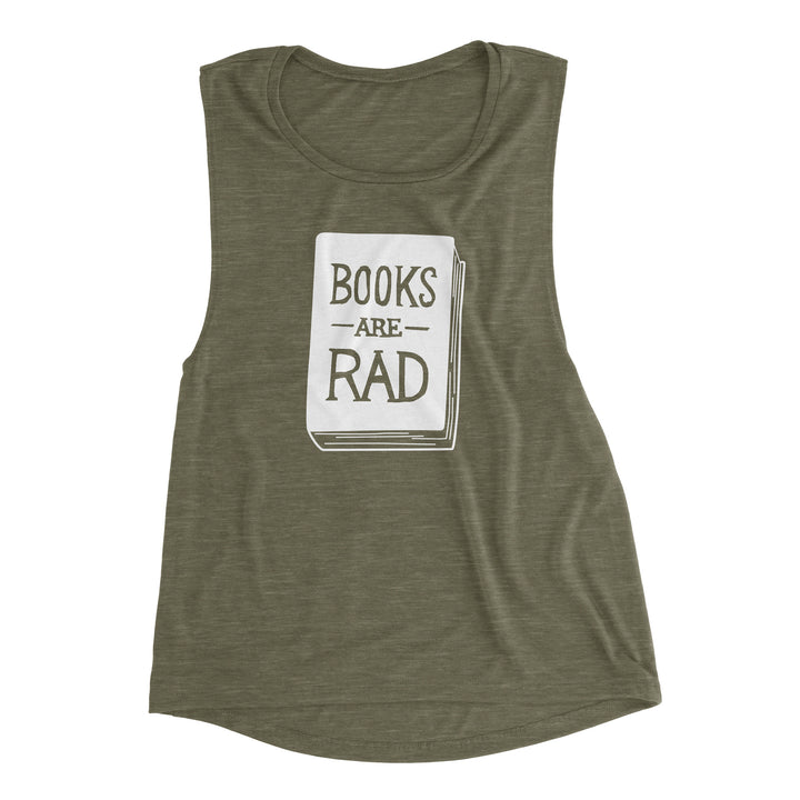 Books Are Rad - Women's Flowy Muscle Tank (S, L, XL)