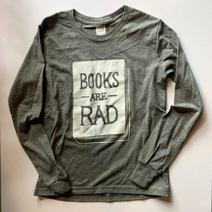 Books Are Rad - Child Long Sleeve T-Shirt (YM & YL)