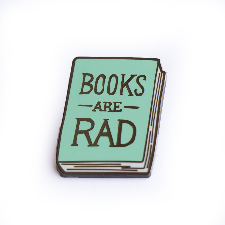 Books Are Rad Enamel Pin