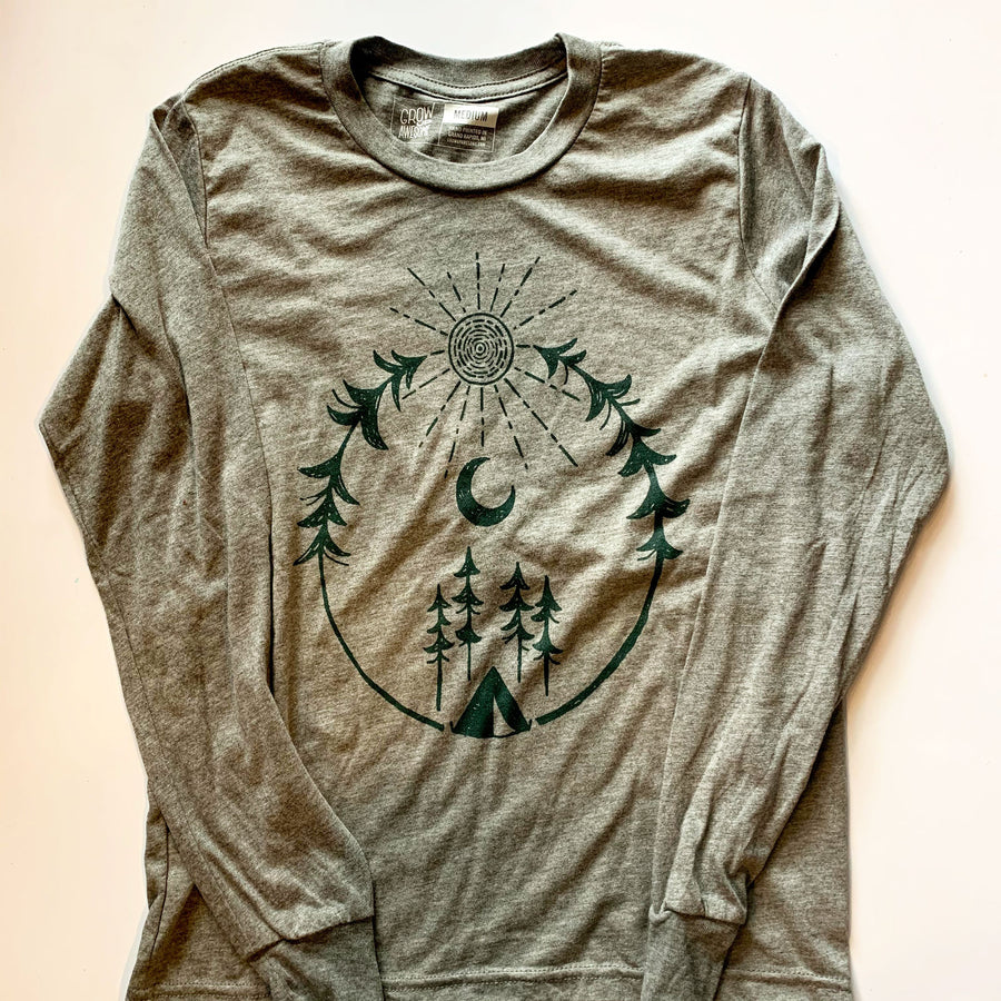 Forest Camping - Child Long Sleeve T-Shirt (YS, YM, YL)