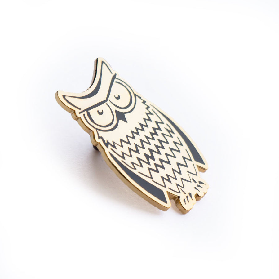 Irritated Owl Enamel Pin
