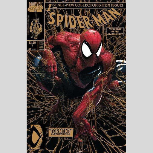 Cyn City Comics Comic Books Spider-Man #1 Facsimile Clayton Crain GOLD Virgin Variant Set