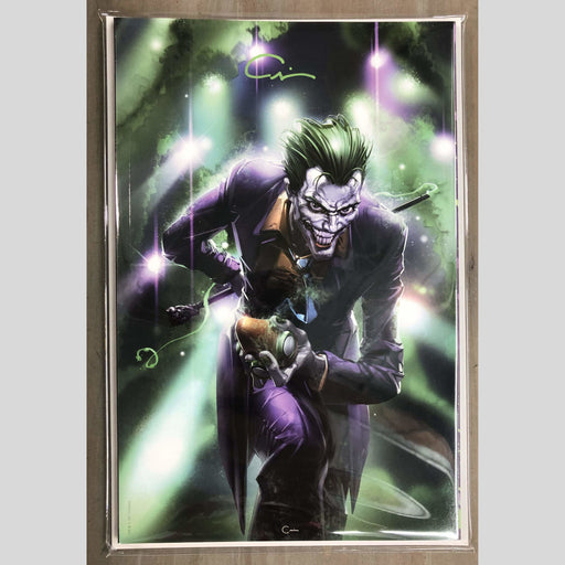 Cyn City Comics Comic Books The Joker 80th Virgin Signed By Clayton Crain (GREEN)