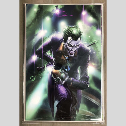 Cyn City Comics Comic Books The Joker 80th Virgin Signed By Clayton Crain (PURPLE)